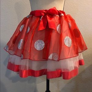 Walt Disney World Minnie Mouse Skirt Red Polka Dot